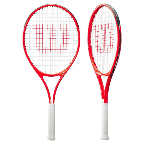 """Wilson Roger Federer 25"""" Tennis Racquet Strung In Red - Ages 9-10 Years"""