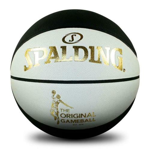 Spalding Original Game Ball - Black & White Basketball Size 6 Indoor/Outdoor
