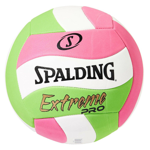 Spalding Extreme Pro Beach Volleyball In Green/Pink/White