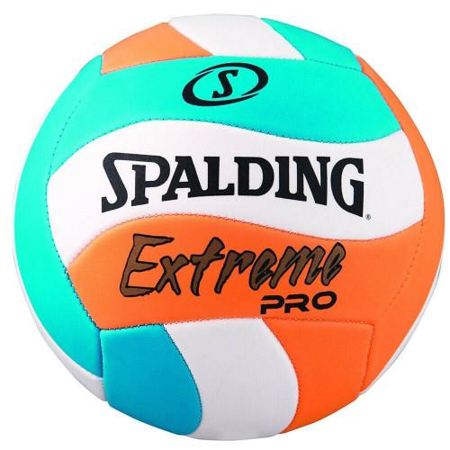 Spalding Extreme Pro Beach Volleyball In Blue/Orange/White