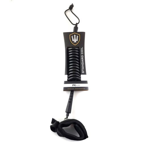 Far King FK Standard Coil Bodyboard Leash - Black
