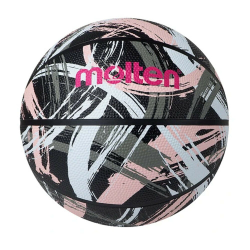 Molten Rubber 1601 Series Outdoor Basketball In Black/Pink