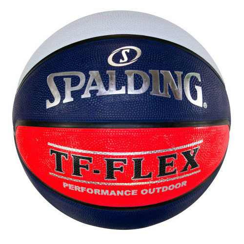 Spalding TF-Flex Basketball Size 4 Outdoor - White/Blue/Red Ball