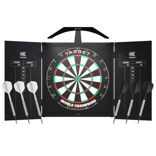 Target Darts ARC Combo Set -  Cabinet, Dartboard, 6x Darts & The Arc Lighting
