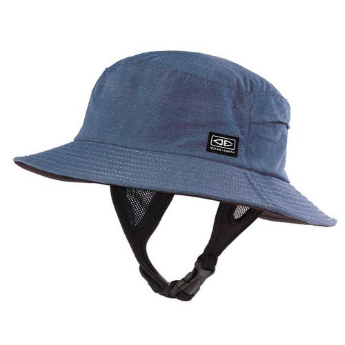 Ocean & Earth Kids 54cm Bingin Soft Peak Surf Watersports Hat Blue Marle