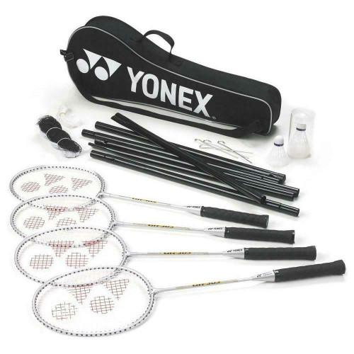 Yonex 4 Racquet Badminton Set With Net & Two Shuttlecocks