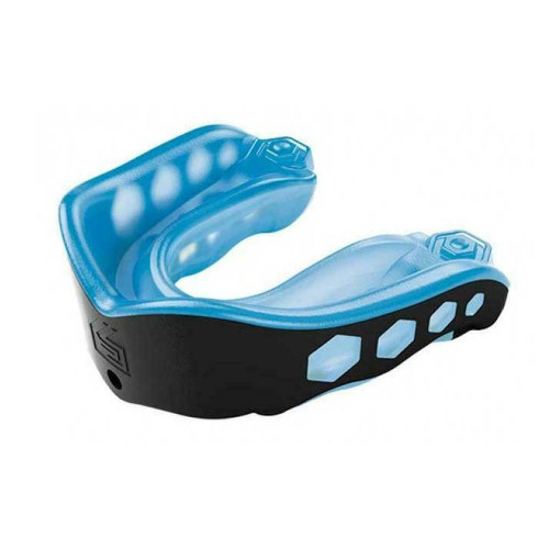 Shock Doctor Gel Max Strapless Mouthguard Blue/Black Adult Years 10+