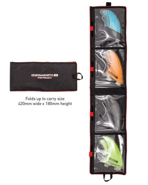 Ocean & Earth Fin Pouch - For Surfboard Fins Storage FCS & Futures fins