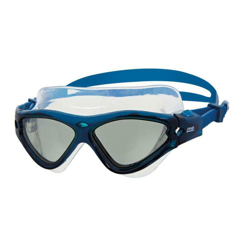 New From Zoggs - Tri Vision Swimming Silicone Mask Swim Goggles In Blue