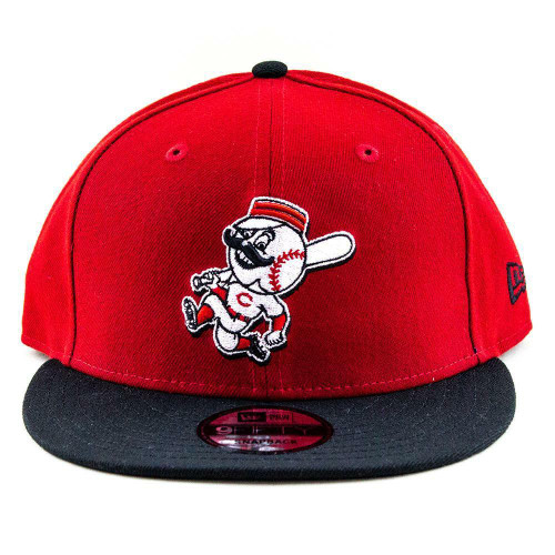 Cincinnati Reds Youth New Era Cap MLB 9Fifty Flat Brim Hat In Red-Black