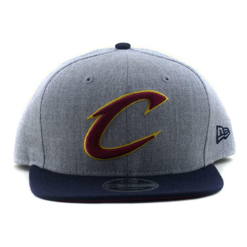 Cleveland Cavaliers New Era NBA 9Fifty Flat Brim Baseball Hat In Heather