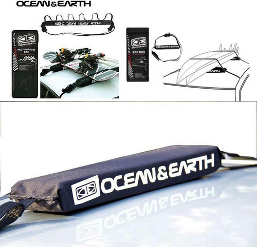 Ocean & Earth Rap Rax With Cam Locks For Surfboards - With Carry Bag