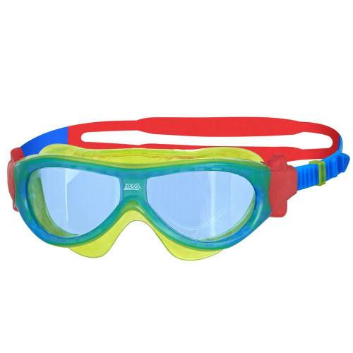 Zoggs Phantom Kids Mask In Lime For Swimming For Children 2-6 Years