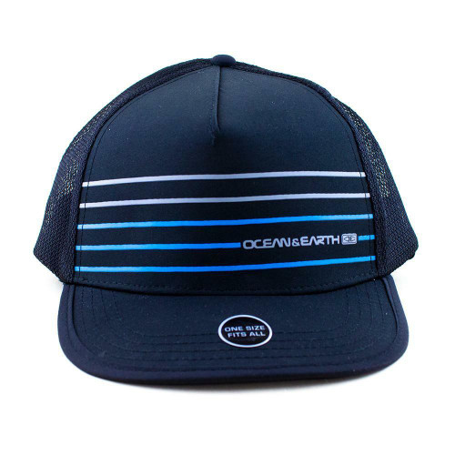 Mens Surfing Cap Kuta Mesh Trucker Hat for Kayaking in Blue from Ocean and Earth
