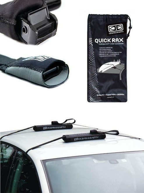 Ocean & Earth Quick Rax With Cam Locks For Surfboards - With Carry Bag