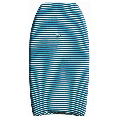 Bodyboard Stretch Cover with Blue Striped Pattern from Ocean & Earth