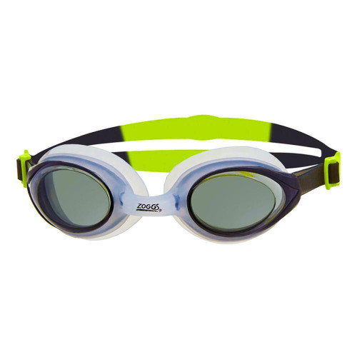 Zoggs Adult Bondi Goggles in Lime/Clear with Smoke Tint
