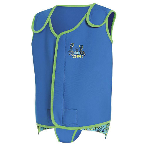 Zoggs 3 - 6 Months Shark and Crab Baby Wrap in Blue/Green