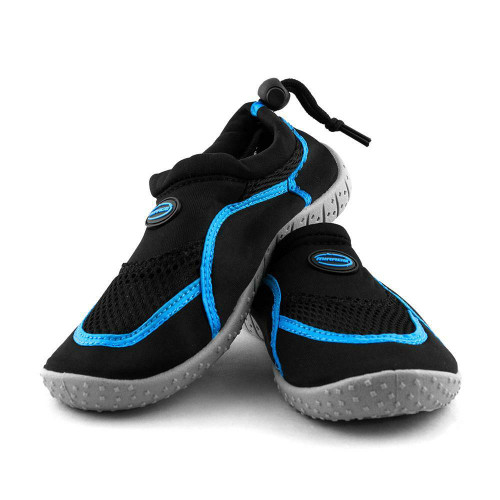 Kids Adjustable Aqua Shoes in Black and Blue from Mirage