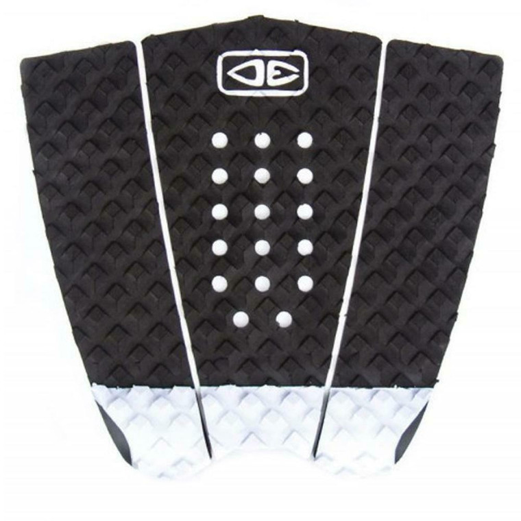Ocean And Earth 3 Piece Traction Surfboard Grip Simple Jack Tail Pad Black/White