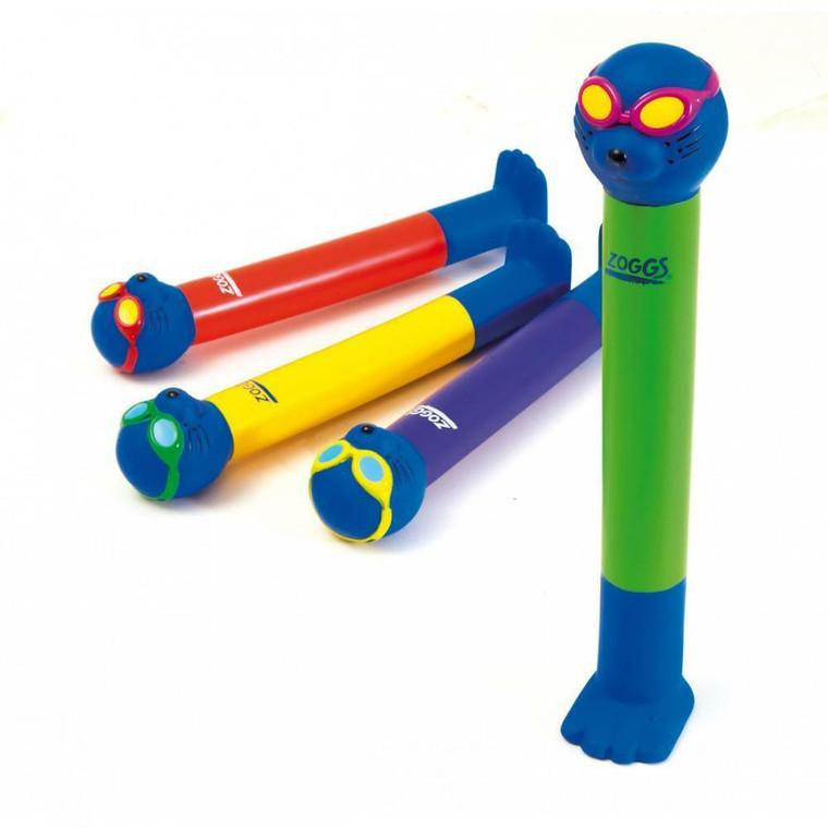 Zoggy Dive Sticks 3 Pack - Swimming Pool Swim Training Sticks  From ZOGGS