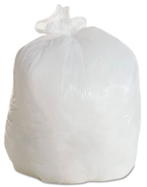 BOARDWALK LD Can Liners, 20-30gal, .60mil, 30w x 36h, White, 25/Roll, 8 Rolls/CT