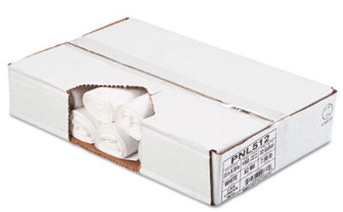 PENNY LANE Linear Low Density Can Liners, .6mil, 33 x 39, White, 25 Bag/Roll, 6 Rolls/CT