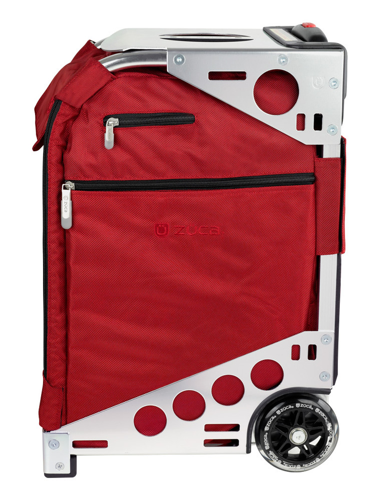 ZÜCA Pro Travel Ruby Red/Silver - side view