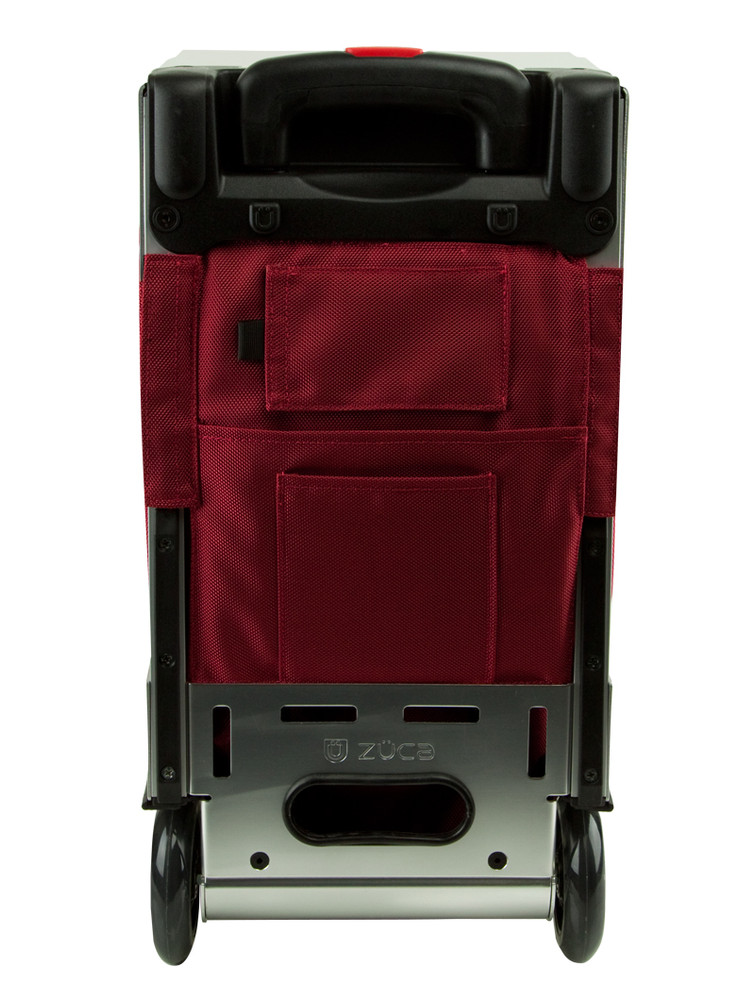 ZÜCA Pro Travel Ruby Red/Silver - rear view
