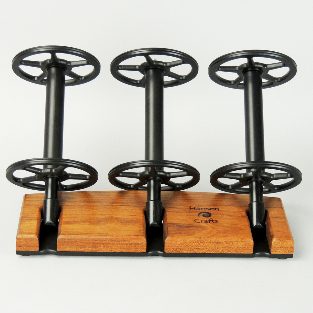 Tigerwood Lazy Kate - 45 degree angle for tensioned plying (bobbins not included)