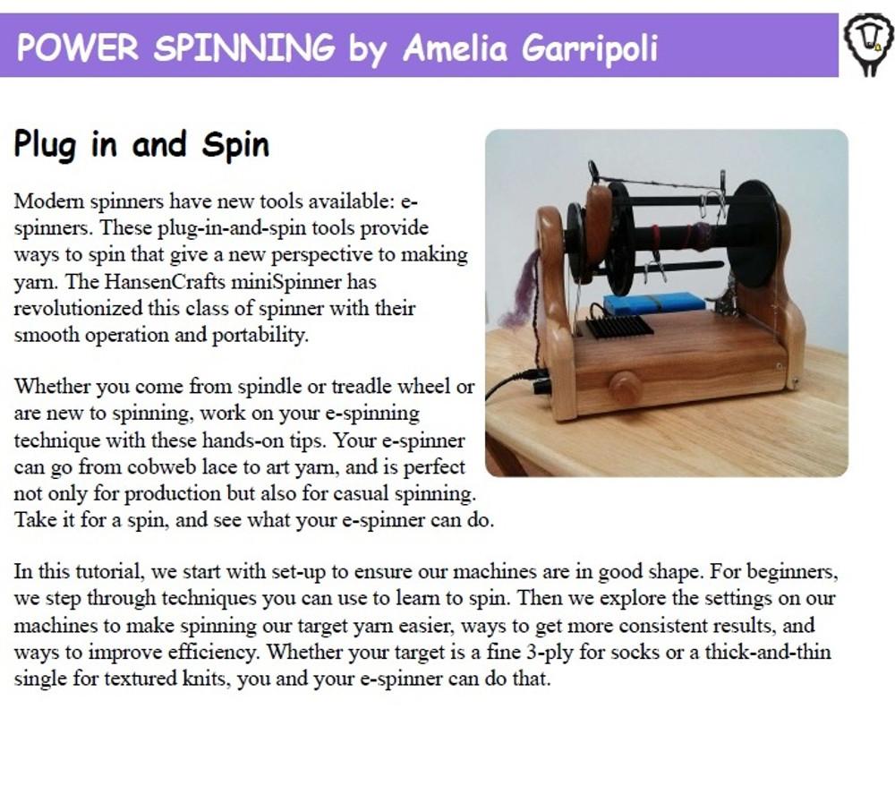 Power Spinning by Amelia Garripoli!