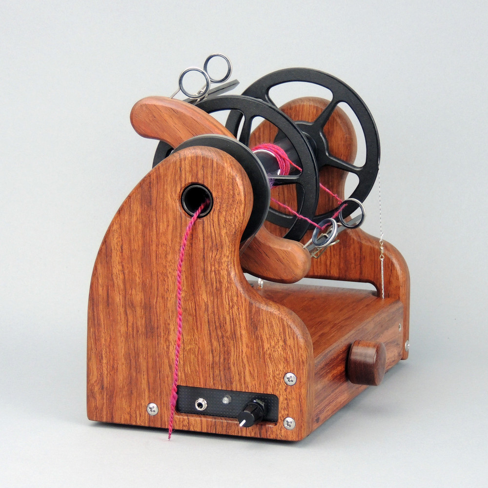 Classic miniSpinner - Bubinga w/ HansenCrafts Standard flyer - front view