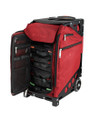 ZÜCA Pro Travel Ruby Red/Black - inside view w/organizer bags
