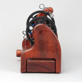 Classic miniSpinner w/ HansenCrafts Standard flyer - Padauk - rear view