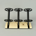 Maple Lazy Kate - 45 degree angle for tensioned plying (bobbins not included)