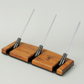 Tigerwood Lazy Kate - 45 degree angle for tensioned plying