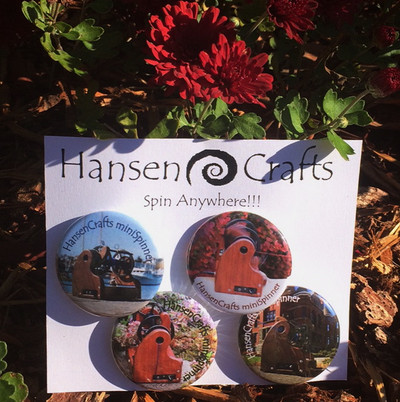 Our Spin Anywhere button set features miniSpinners in four different locations in beautiful Port Townsend, WA