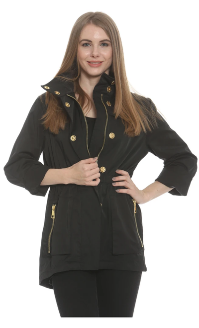 Tess Black Rain Coat