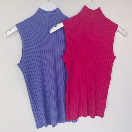 Classic Mock Neck Ribbed Tank