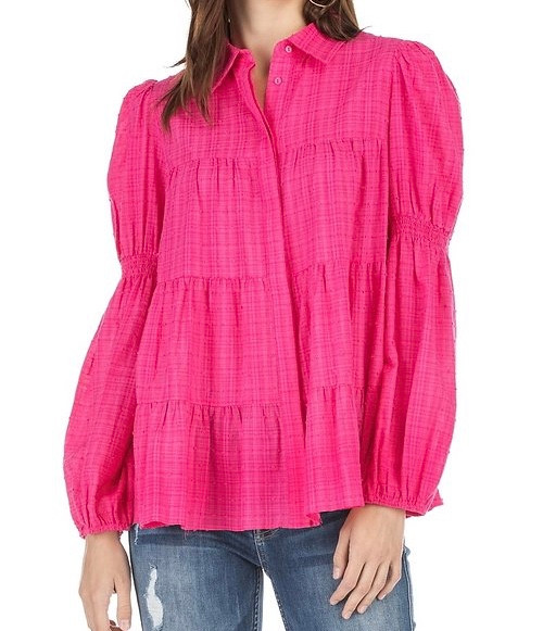 Tiered Baby Doll Blouse