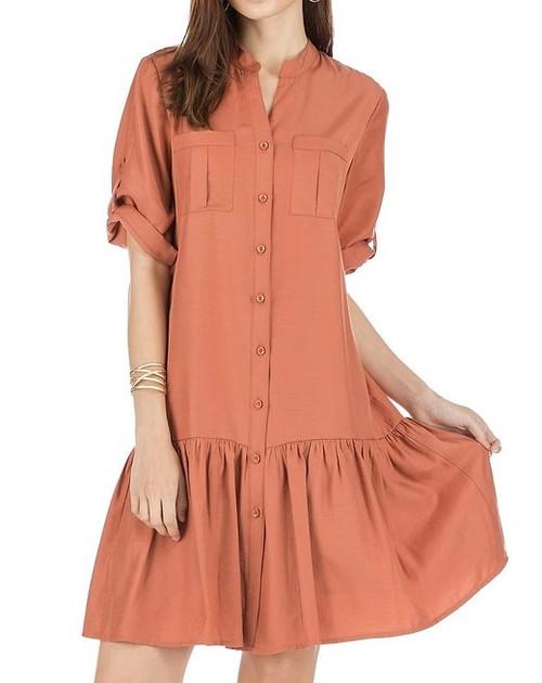 Pocket Button Dress