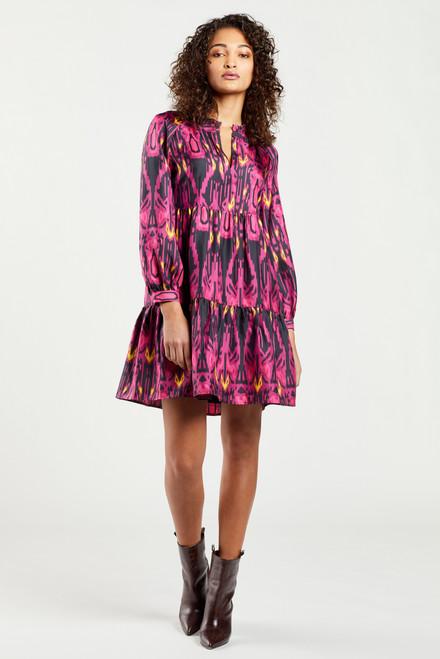 Fuchsia Ikat Paris Dress