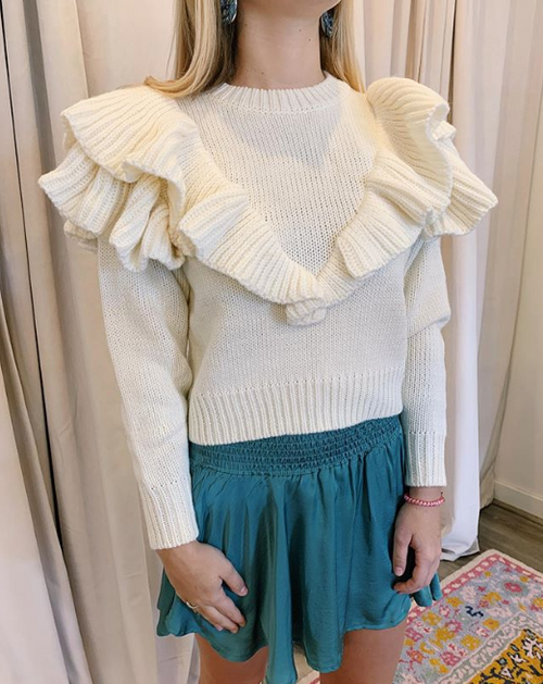 Carice Ruffle Knit Top