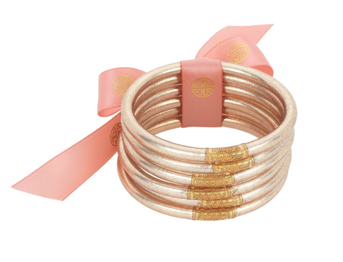 Champagne All Weather Bangles 6 Pack
