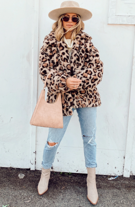 Cordelia Leopard Fleece Jacket