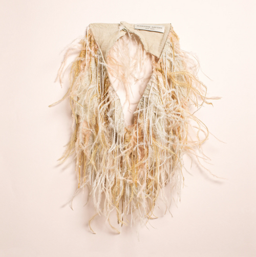 Marfa Scarf Necklace Neutral