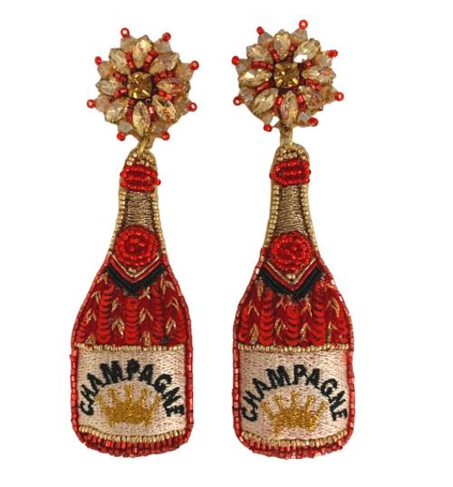 Glam Champagne Earrings