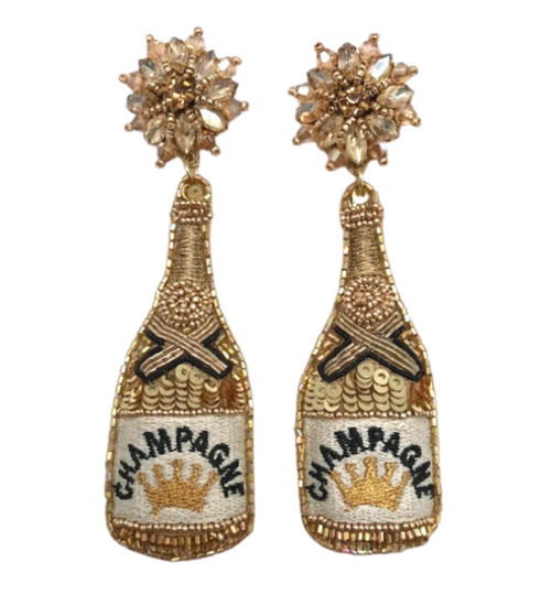 Glam Champagne Earrings