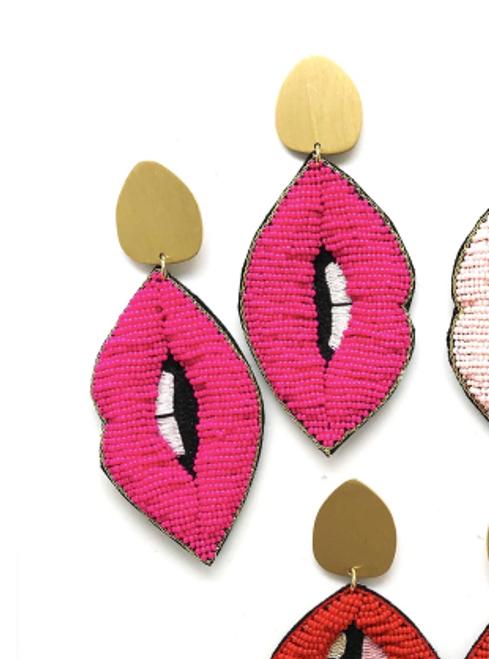 Hot Pink Lips Earrings