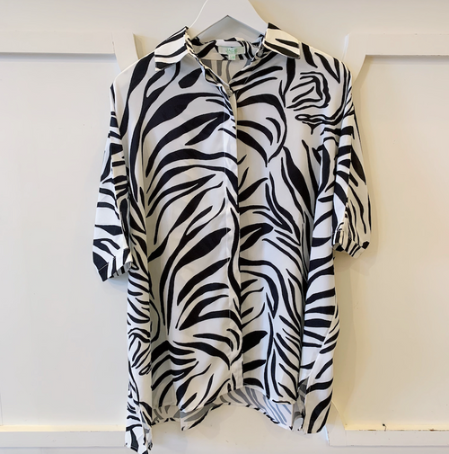 Zebra Button Shirt